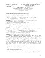 Tài liệu Đề thi chính thức môn Tiếng Anh (Hệ 7 năm) năm 2002-2003 pdf