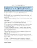 Tài liệu Ability to Create & Manage Culture docx