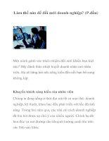 Tài liệu Làm thế nào để đổi mới doanh nghiệp? (P.đầu) pdf