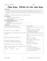 Bài soạn Giáo án toán 6- kì 1