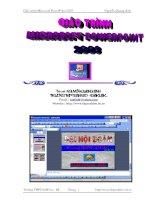 Tài liệu Giáo trình Microsoft PowerPoint 2003 docx