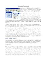 Tài liệu Sửa các kết nối mạng ppt