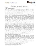 Ôn tập cơ sơ văn hóa Việt Nam