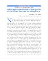 Tài liệu NHỮNG NỘI DUNG MỚI VỀ NGHĨA VỤ VÀ QUYỀN CỦA CÁN BỘ, CÔNG CHỨC pptx