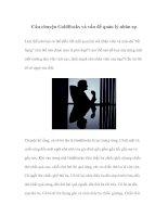 Tài liệu Câu chuyện Goldilocks và vấn đề quản lý nhân sự doc