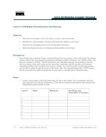 Tài liệu Lab 2.3.7 OSI Model Characteristics and Devices pptx