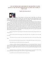 Tài liệu CÁC MÔ HÌNH THỂ CHẾ KINH TẾ THỊ TRƯỜNG VÀ NỀN KINH TẾ THỊ TRƯỜNG ĐỊNH HƯỚNG XÃ HỘI CHỦ NGHĨA Ở VIỆT NAM docx