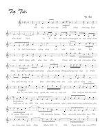 Tài liệu Bài hát tạ từ - Tô Vũ (lời bài hát có nốt) pptx