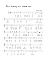 Tài liệu Bài hát quê hương và chim sáo - Quang Lộc (lời bài hát có nốt) docx