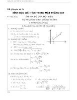 Toán ôn thi đại học - chuyên đề 7 hình học giải tích trong mặt phẳng oxy