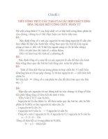 Tài liệu Chủ đề 1: PHƯƠNG PHÁP VIẾT CÔNG THỨC CẤU TẠO CÁC CHẤT VÔ CƠ pptx
