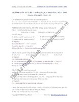 Tài liệu Hướng dẫn giải đề thi ĐH - CĐ năm 2008 môn Hóa khối B M195 pdf