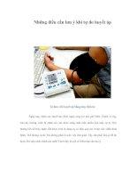 Tài liệu Những điều cần lưu ý khi tự đo huyết áp pdf