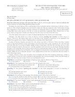 Tài liệu Đề thi ĐH môn Tiếng Anh khối D 2009 M174 docx