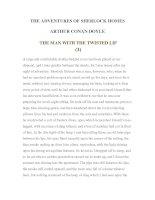 Tài liệu LUYỆN ĐỌC TIẾNG ANH QUA TÁC PHẨM VĂN HỌC-THE ADVENTURES OF SHERLOCK HOMES -ARTHUR CONAN DOYLE 6-3 pptx
