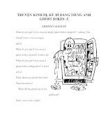 Tài liệu TRUYỆN KINH DỊ BẲNG TIẾNG ANH GHOST JOKES -5 doc