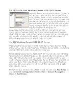 Tài liệu Cài đặt và cấu hình Windows Server 2008 DHCP Server pptx