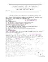 Bài giảng Bài tập trắc nghiệm + tự luận chương I ĐỘNG HỌC CHẤT ĐIỂM