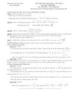 Tài liệu Đề thi thử đại học môn Toán khối B - THPT chuyên Nguyễn Huệ pdf