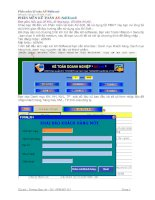 Tài liệu Hướng dẫn sử dụng phần mềm kế toán AV soft excel doc