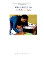 Tài liệu KẾ HOẠCH GIẢNG DẠY - Chủ đề: Em yêu cô giáo pptx