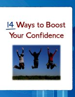 Tài liệu 14 ways to boost your confidence ppt