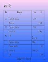 Chữa bài tập kế toán quốc tế