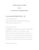 Tài liệu TOEFL STUDY GUIDE PART 2 -2 LISTENING COMPREHENSION doc