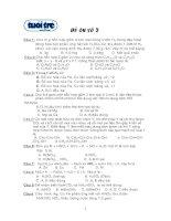 Tài liệu Đề trắc nghiệm hóa 2 (Ôn thi ĐH) doc