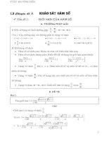 Chuyên đề khảo sát hàm số luyện thi đại học