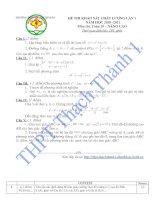 Bài giảng Đề thi - Đáp án Toán 10 - Thi kiểm tra chất lượng lần 1