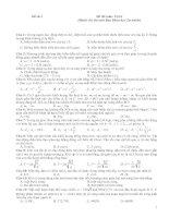 Tài liệu Đề thi môn Vật lí - đề thi số 3 pdf