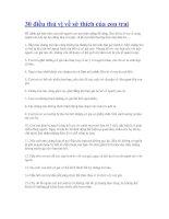 30 điều thú vị về sở thích của con trai