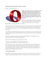 Tài liệu Những tính năng nổi bật của Opera 10 beta docx