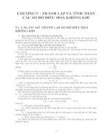 Tài liệu Thành lập và tính toán các sơ đồ điều hòa không khí doc