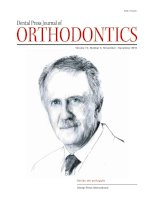 Tạp chí nha khoa dental press journal of orthodontics  tháng 11-12 /2010