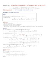 Tài liệu Chuyên đề: MỘT SỐ PHƯƠNG PHÁP CHỨNG MINH BẤT ĐẲNG THỨC pdf