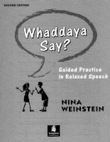 Longman whaddaya say guided practice in relaxed speech