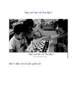 Tài liệu Dạy con học cờ Vua tập 1 pdf
