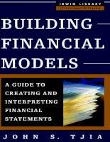 Tài liệu McGraw.Hill.Building Financial Models ppt