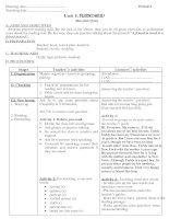 Bài soạn Giáo án Tiêng Anh 11 - NC- Unit 1