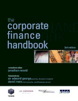 Tài liệu Corporate Finance handbook Chapter 1 ppt