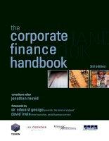 Tài liệu Corporate Finance handbook Chapter 1 ppt