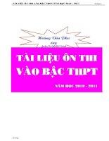 Bài giảng TONG HOP TAT CA CAC DANG TOAN HAY HIEN NAY THI VAO LOP 10