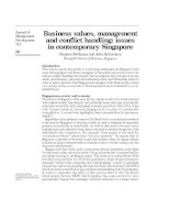 Tài liệu Business values, management and conflict handling: issues in contemporary Singapore ppt