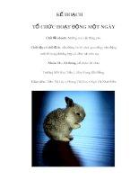 Tài liệu KẾ HOẠCH TỔ CHỨC HOẠT ĐỘNG MỘT NGÀY - Chủ đề nhánh: Những con vật đáng yêu ppt