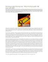 Tài liệu Nhượng quyền thương mại - Nhà nhượng quyền Việt Nam cần biết? pdf