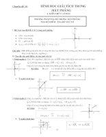 Tài liệu Chuyên đề 14: Hình học giải tích trong mặt phẳng pptx