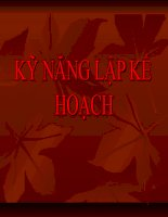 Tài liệu Ky nang lap ke hoach doc