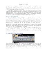 Tài liệu Học Word 2007_Tập 1: MS Word toàn tập doc